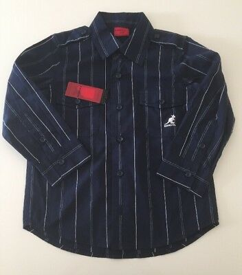 Boy's, Kangol,Navy Blue Striped,Occasion,Party, Smart, Shirt, Age 2-3, New+Tags.