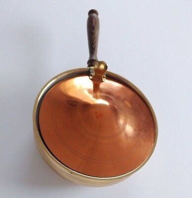 Vintage RIO Tiel Pot Pan Cookware Made in Holland Copper Brass Wood Handle