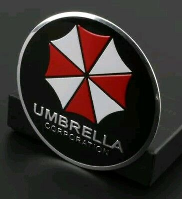 Metal Resident Evil Umbrella Corporation Car Auto Trunk Badge Emblem Car Black