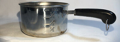 Vintage Revere Ware Mini 1 Cup Stainless Sauce Pan Measuring Cup