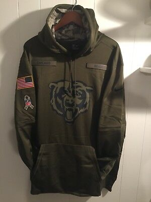 NEW Nike 2018 NFL Salute to Service Chicago Bears Therma PO Hoodie XXXL or  3XL 701760e2b