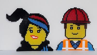 Newly Made Lego Movie Characters Pixel Design Perler Bead Art Chose One