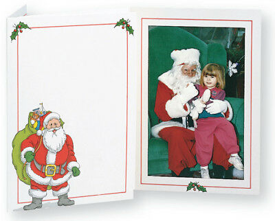 TAP Christmas Santa Claus Photo Folders for 5x7 Pictures ( Pkg. / 100 )