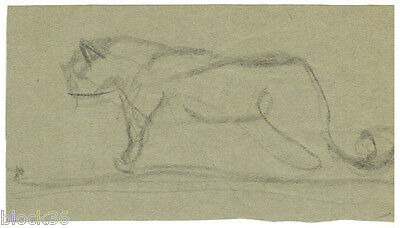 """""""LION"""" page with drawing from the album of Russian artist A.M.Gromov"""