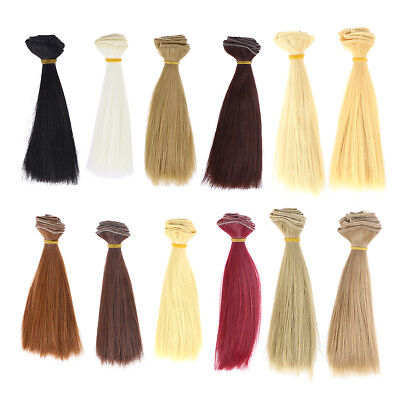 12pcs Handcraft Wig Hair Fashion Hair Wig for Doll Making Arts and Crafts