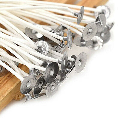 30 Pcs Candle Wicks Cotton Cores Waxed Wick With Sustainers Candle