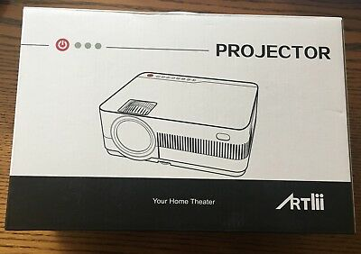 ARTlii Portable Video Projector LCD Home Theater Projector, 2800 Lumens, 1080P