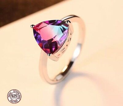Sterling Silver Ring Mystic Topaz 925 US Size 7