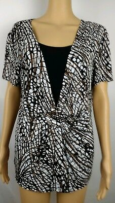Women S Notations Blouse Size Xl Black And Red In Color Very