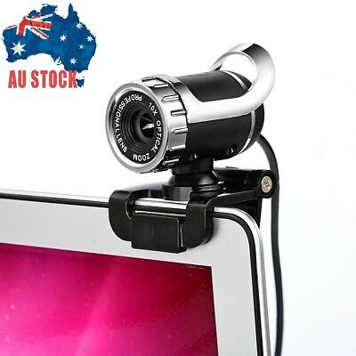 HD USB Webcam Web Camera With Microphone Skype Clip-on 360° Adjustable for PC