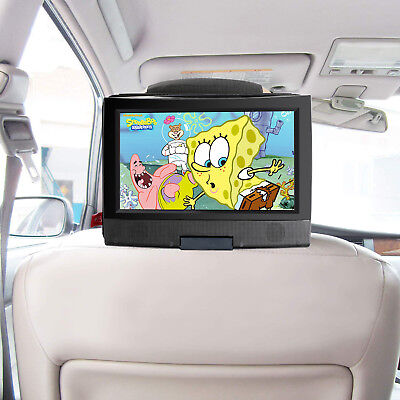 Car Headrest Mount Holder for 7-11 Inch Swivel & Flip style Portable DVD player
