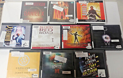 Young Adult Sci Fi  Audio Books Lot of 10 on CD FREE SHIPPING Unabridged A-17
