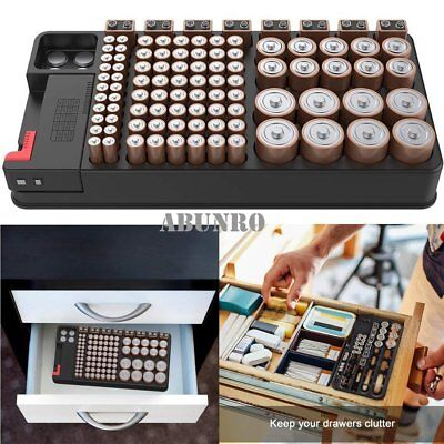Digital Battery Tester Storage Organizer Case Batteries Storage Box AAA/AA/9V M1