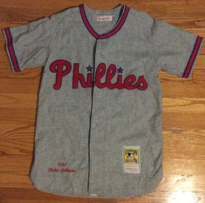 b72e74fa1 Authentic Mitchell   Ness Philadelphia Phillies Richie Ashburn Jersey 36  Small S