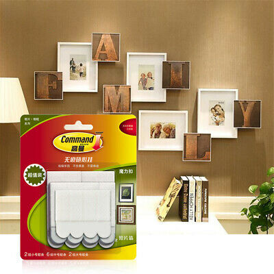 3M Large Command Picture Frame Hanging Adhesive Stick Damage-free White Strips