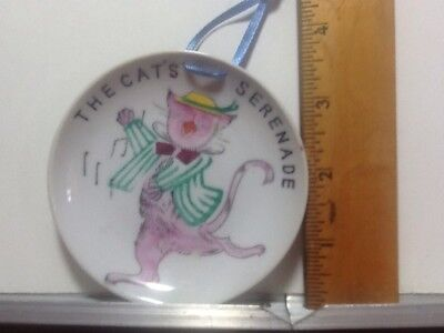 Vintage Small Dressed Cat Decoration Plate