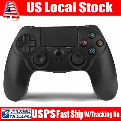 Black PlayStation 4 Dualshock 4 Wireless Gamepad Controller (For Sony) NEW MA