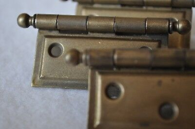 """Three (3) - NOS Vintage Stanley """"Sweetheart"""" Cannonball cabinet hinges 1922-1934"""