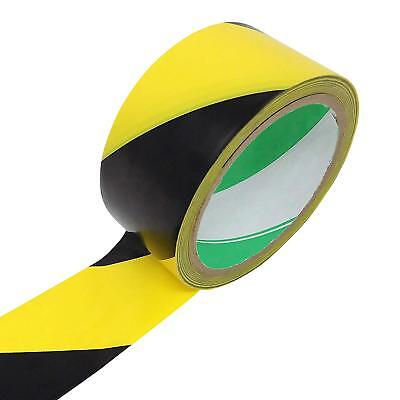 Black and Yellow Diagonal Stripe Self-Adhesive Tape Roll, 1-7/8 in by 59 ft
