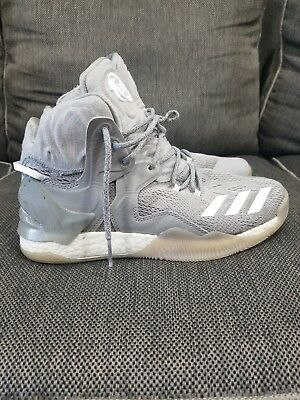 NEW ADIDAS BOOST D ROSE 7 PRIMEKNIT SZ 10 MEN B49713 Color Grey Used 7524d22e4
