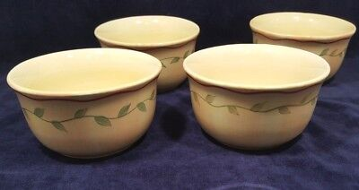 New Set of 4 Soup Cereal Rice Bowls Pfaltzgraff Napoli