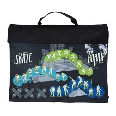 NEW Spencil Skate Paint Library School Book Bag Velcro Fastening & Handle