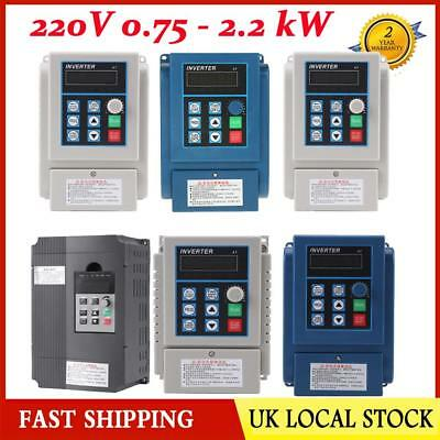 220V 0.75/2.2KW 5A Single Phase Variable Frequency Speed Drive VFD Converter UK.