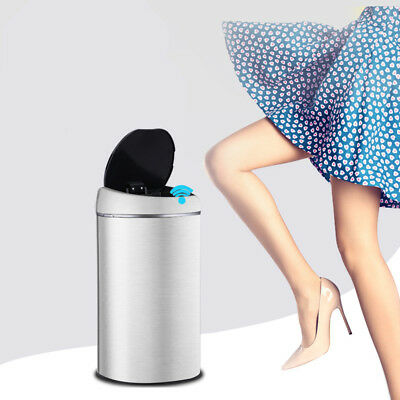 Smart Automatic Trash Can Stainless Steel Touchless Infrared Sensor Garbage Bin