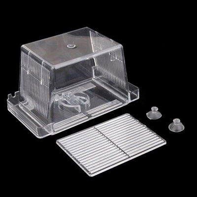 Aquarium Fish Tank Guppy Double Breeding Breeder Rearing Trap Box case Hatchery