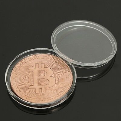 1Pcs Rose Gold Bitcoin Model Commemorative Coin Btc best gift