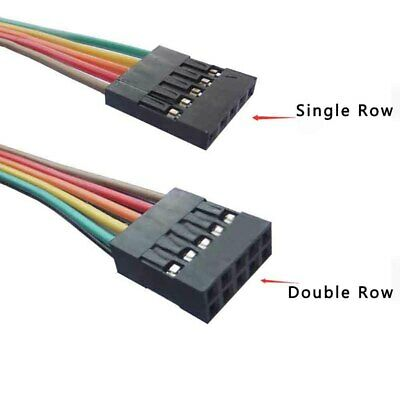 Female-Female Single/Double Row DuPont 2.54mm Rainbow Cable Ribbon Jumper Wire