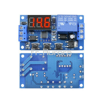 Digital LED 24V Trigger Delay Time Cycle Timer Control Switch Relay Module