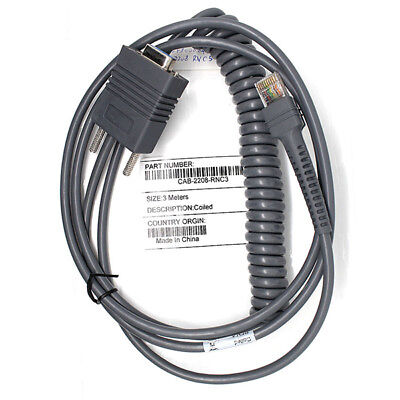 9FT Coiled RS-232 Serial Cable for Motorola Symbol LS3408 LS3478 LS3278 Reader