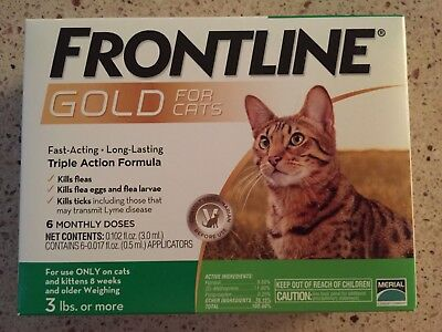 Frontline Gold For Cats 6Pack Epa Approved Sealed Box