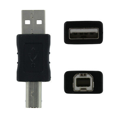 USB A Male to USB B Male - Black Adapter/Converter/Changer
