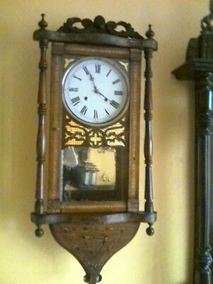 Antique American Newhaven wall clock gwo