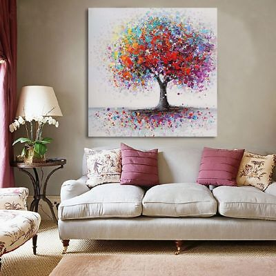 Colorful Tree Abstract Picture Canvas Print Oil Painting Unframed Wall Art Decor