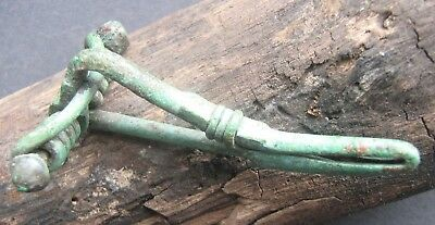 Ancient Roman bronze Fibula Brooch 1-2 century