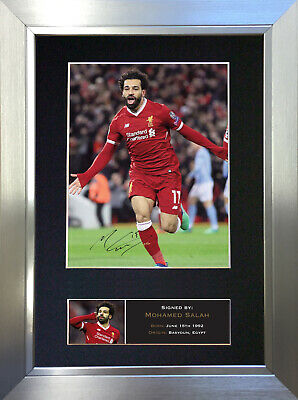 MOHAMED SALAH Signed Autograph Mounted Photo Reproduction A4 Print 764