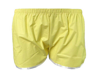 1 pcs Haian Sporty Pull-on Plastic Pants Color yellow.P018-3