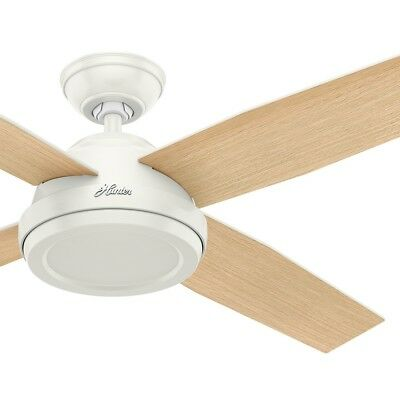 Hunter Fan 52 inch Fresh White Contemporary Ceiling Fan with Remote Control