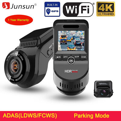 Junsun 4K Car Dash Cam DVR 4K Ultra HD 2160P Built-In WiFi & GPS Night Vision