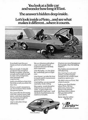 1971 Ford Pinto Runabout #101477 Vintage Car Poster Print Art Sign Auto Garage
