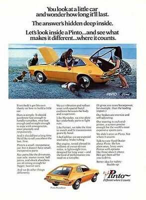 1971 Ford Pinto Runabout #101476 Vintage Car Poster Print Art Sign Auto Garage