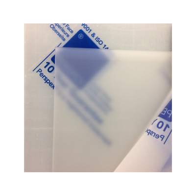 Perspex Frosted Sheet Diffused Effect Acrylic Panels A4,A5,A6 Matt Satin Opal []