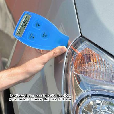 GM200/GM200A Digital Car Paint Coating Thickness Probe Tester Gauge Meter Blue