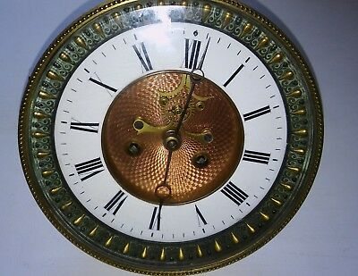 Antique French Clock Movement With Visible Escapement Stunning