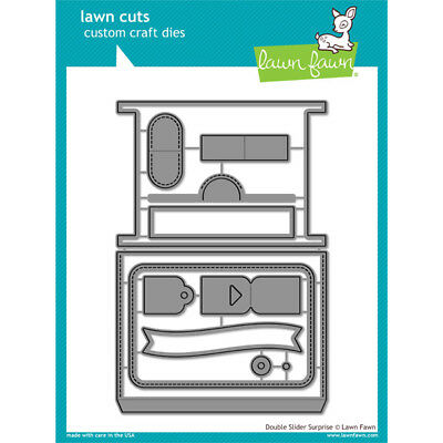 Lawn Fawn Die Set Double Slider Surprise Set of 12 | Lawn Cuts Custom Craft