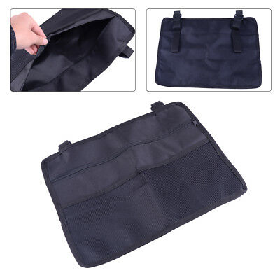 Wheelchair Side Bag Armrest Pouch Organizer Pocket Phone Holder Black