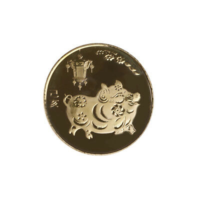 The year of the pig gold Chinese zodiac 2019 anniversary coins souvenir coin TR